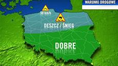 Drogi w Polsce pogodowo podzielone
