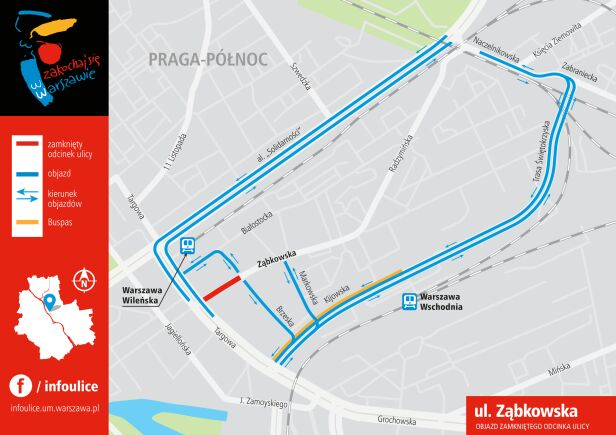 Objazd Ząbkowskiej  UM