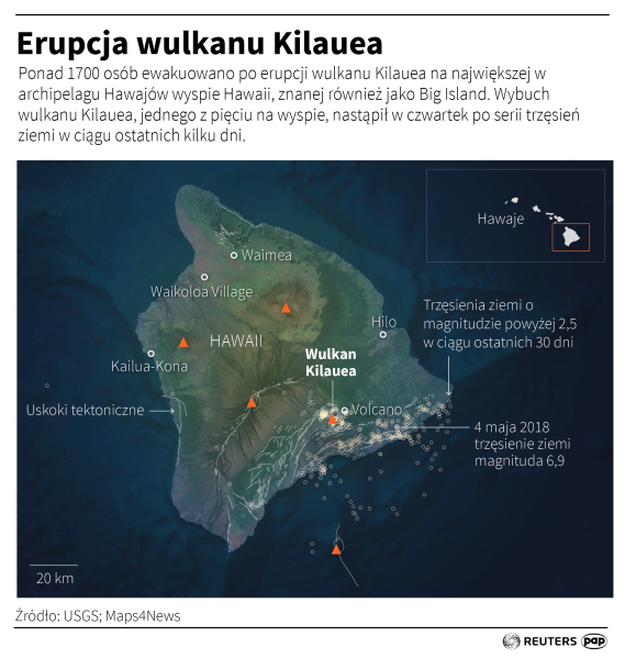 Erupcja wulkanu Kilauea (PAP)