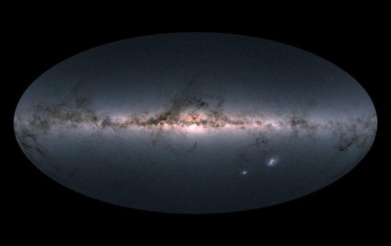 Zdjęcie Drogi Mlecznej wykonane przez sondę Gaia (ESA/Gaia/DPAC, CC BY-SA 3.0 IGO)