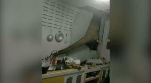 Słoń włamał się do kuchni