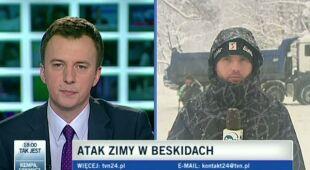 Beskid Żywiecki zasypany śniegiem (TVN24)